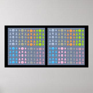 NOVINO-stjärnor och formar mönster 2 Poster