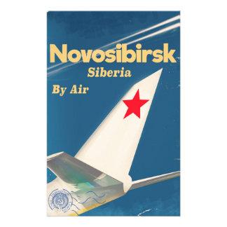Novosibirsk Siberia sovjet - facklig flygaffisch Brevpapper