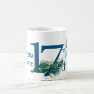 nr. 17 - 17th bröllopsdag eller 15th födelsedag kaffemugg