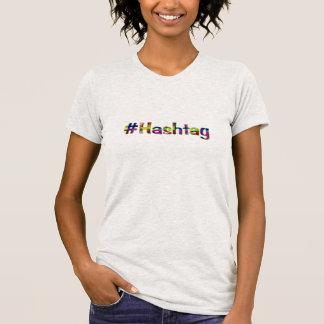 Nr. beställnings- t-skjorta för Hashtag hashtag Tshirts