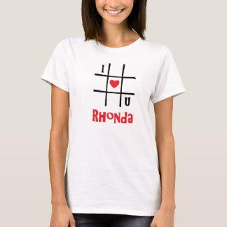 Nr. kvinna för I Luv U Rhonda Hanes Nano T-tröja Tee Shirt
