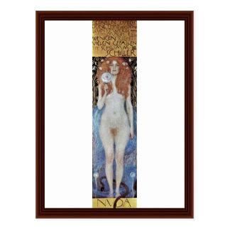 Nuda Veritas av Klimt Gustav Vykort