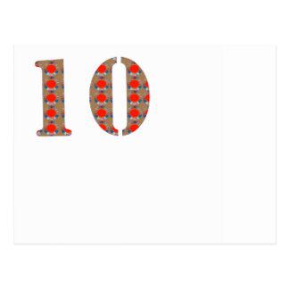 Numrera 10 det TIO födelsedag årsdagMINNET Vykort