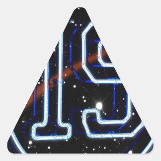 Numrera 19 triangelformat klistermärke