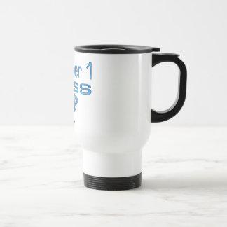 Numrera 1 chef i blått kaffe koppar