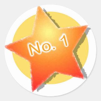 numrera 1 runt klistermärke