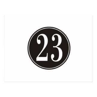 Numrera 23 - Svarten cirklar (bekläda) Vykort
