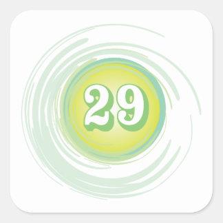 Numrera 29 fyrkantigt klistermärke