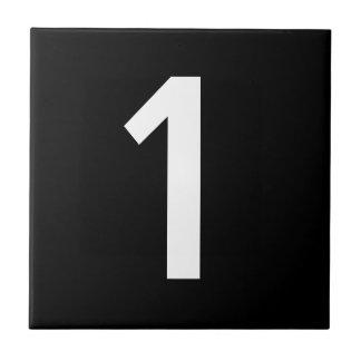 Numrera belägger med tegel kakelplatta