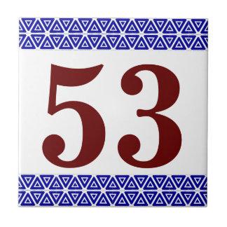 Numrera belägger med tegel triangegränsen kakelplatta