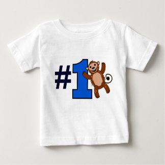 Numrera en apa den 1st födelsedagen för den tee shirt