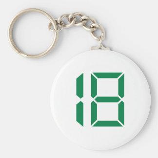 Numrera - en arton - 18 rund nyckelring
