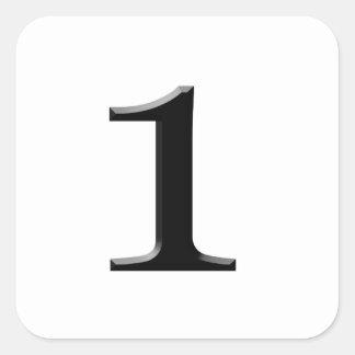numrera en fyrkantigt klistermärke