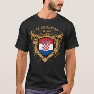 Numrera en kroatisk pappa tee shirt