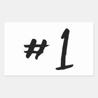 Numrera en rektangulärt klistermärke