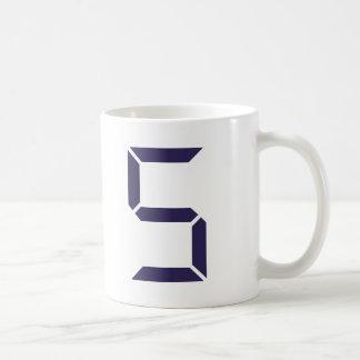 Numrera - fem - 5 kaffemugg