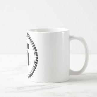 Numrera fem cirklar kaffemugg