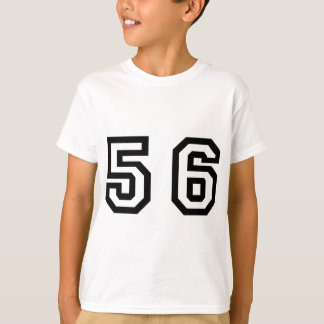 Numrera femtio sex tee shirts