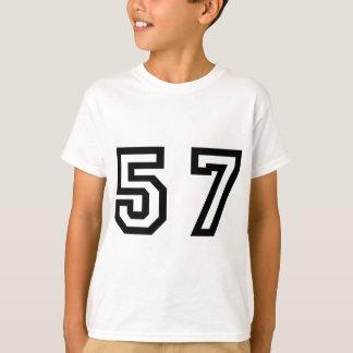 Numrera femtio sju tröjor
