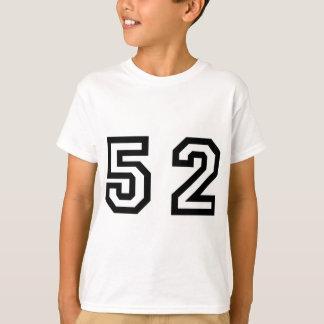 Numrera femtio två t shirts