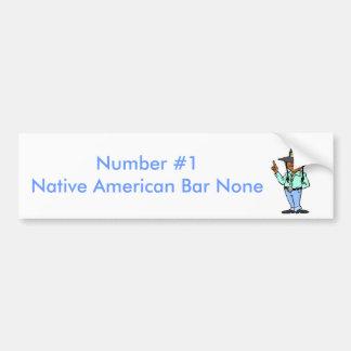 Numrera indianen #1 bildekal