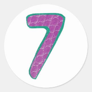 Numrera klistermärke sju