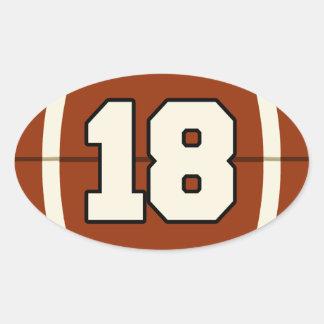 Numrera klistermärken för 18 fotboll