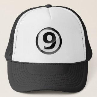 Numrera svart 9 truckerkeps