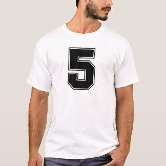 Numrera trycket för frontside 5 t-shirt