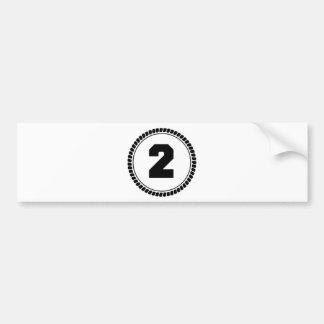 Numrera två bildekal