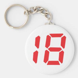 numrerar den digitala röda ringklockan för en arto rund nyckelring