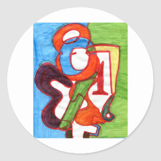 Numrerar förälskat runt klistermärke