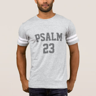 Numrerar kristna sportar Jersey för PSALM 23 T Shirts