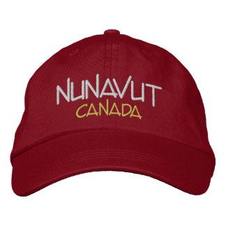 Nunavut Kanada anpassningsbar broderad hatt