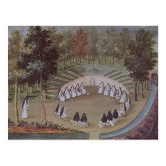 Nunnor som möter i ensamhet vykort