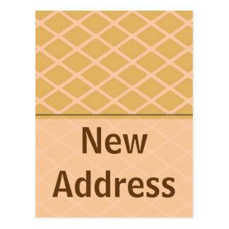 ny adress biege vykort