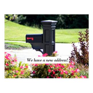 Ny adress brevlåda vykort