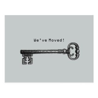 Ny adress flytta för enkel skelettnyckel vykort