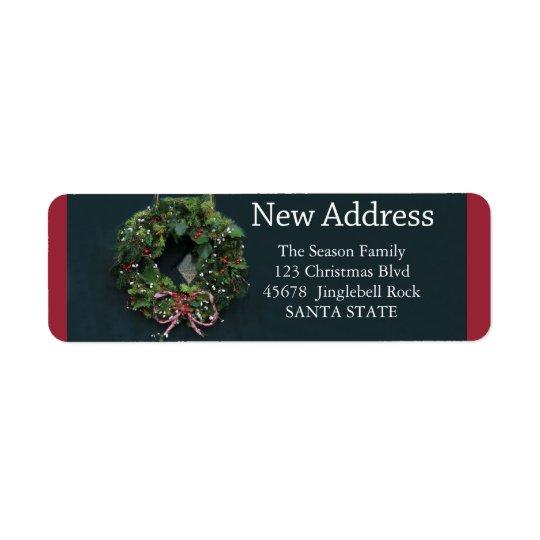 Ny adress helgdagetikett för kran x-mas returadress etikett