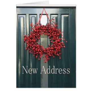 Ny adress julkort hälsningskort