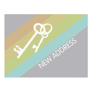 Ny adress meddelandevykort vykort