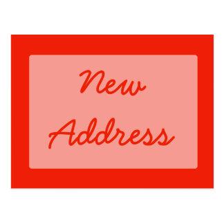 ny adress orange vykort