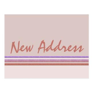 Ny adress pastell vykort