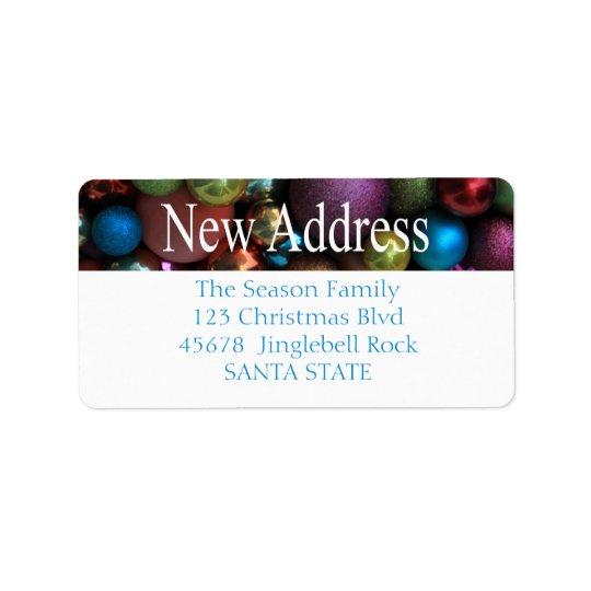 Ny adress prydnadhelgdagetikett adressetikett