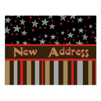 Ny adress stars och stripes vykort