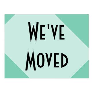 Ny adress vi har flyttat vykort