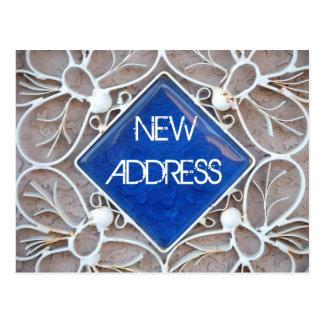 Ny adress vykort