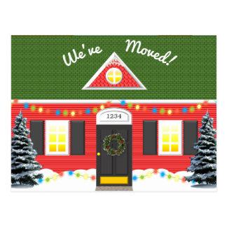 Ny adress vykort för helgdaghus