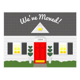 Ny adress vykort för husFacade