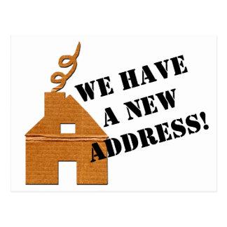 Ny adress vykort för papphus